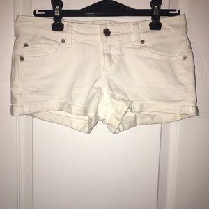 Garage Low Rise White Jean Shorts